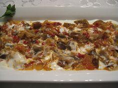 Dost Bahcesinden Lezzetler: BADILCAN-PATLICAN KAVURMA Turkish Recipes, Ethnic Recipes, Lasagna, Food, Essen, Meals, Yemek, Lasagne, Eten