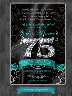 303540455055606570 75th Birthday Bash  by BrooklynDesignStudio, $15.00