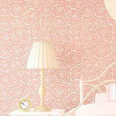 Roses Allover wall stencil from Cutting Edge Stencils looks like floral wallpaper. http://www.cuttingedgestencils.com/roses-stencil-pattern-rose-design.html