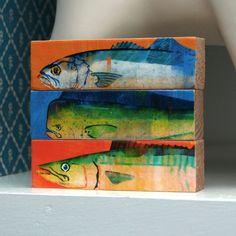 Fish Sticks - Saltwater Fish Art Block
