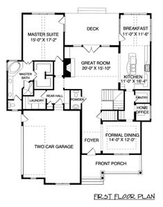 Houseplans.com Main Floor Plan Plan #413-849