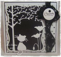 memory box dies, and magnolia cat..