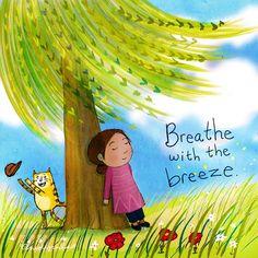 breathe with the breeze Tiny Buddha, Little Buddha, Buddah Doodles, Buddha Thoughts, Doodle Sketch, Mindfulness Meditation, Buddhism, Decir No, Creations
