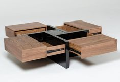 Makai Couchtisch mit Aufbewahrung - stuff -Lipscomb Makai Couchtisch mit Aufbewahrung - stuff - woodworking for beginners Stylish Coffee Table, Diy Coffee Table, Coffee Table With Storage, Coffee Table Design, Coffee Table Plans, Coffee Ideas, Cool Furniture, Living Room Furniture, Modern Furniture