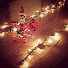 I'm back! Elf on Shelf arrival