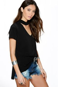 b3d8655ec Cut Out Choker Top Diy Choker, Neck Choker, Cut Out Top, Fashion Women