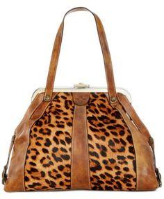 3de734119ce1 Patricia Nash Leopard Genova Frame Satchel & Reviews - Handbags &  Accessories - Macy's