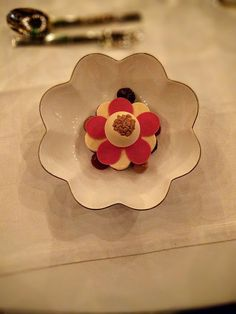 Dessert from the 2015 Nobel Prize Banquet Dinner in Stockholm