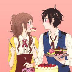 "#horimiya couple (^・o・^)ノ"""