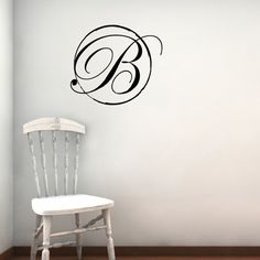 Monogram Wall Decal Personalized Initials Wall Decals Monogram - Monogram wall decals for business