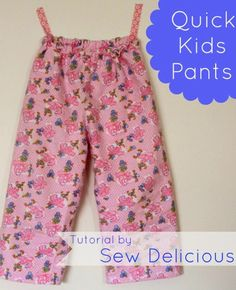 Quick Kids Pants - no pattern required