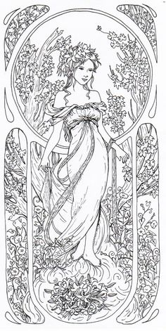 Tribute to Alfons Mucha 2 by EpsilonEridani.deviantart.com on @deviantART