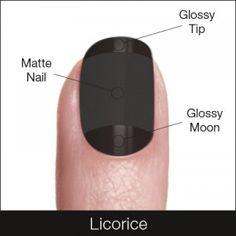 matte and glossy black nail polsih
