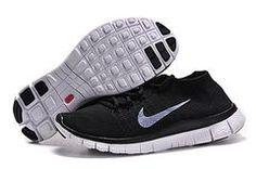 Nike Flyknit 5.0 Black Grey Men Shoes France