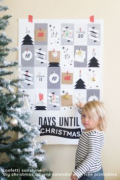 DIY Christmas Advent Calendar with Free Printables