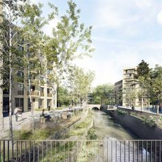 Forbes Massie / 3D Visualisation Studio / London - Work - Witherford Watson Mann + Mae /Catford. Good mix of photomontage and 3D.