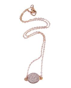 silver druzy necklace. I want this as an anklet, too..