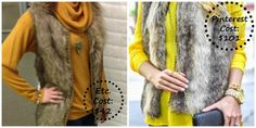 Look for less, etc consignment shoppe, asheville consignment, Fur vest, yellow outfit