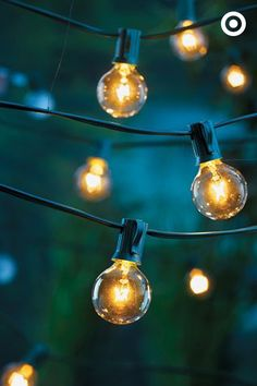 Round string lights will an add easy, sophisticated sparkle to any party (think: New Year's Eve!).