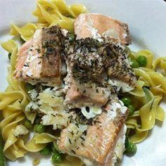 Thyme Salmon with Sage Pasta - Allrecipes.com