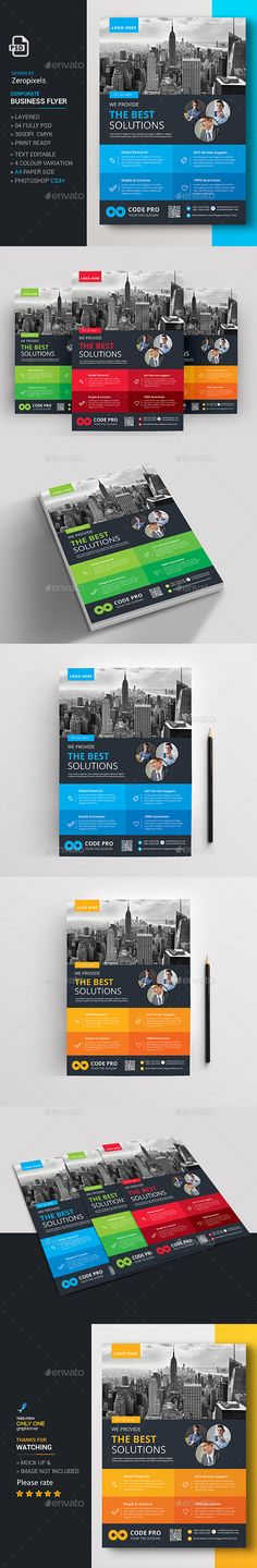 #Modern #Business #Flyer - Flyers Print Templates Download here: https://graphicriver.net/item/modern-business-flyer/17283275?ref=alena994