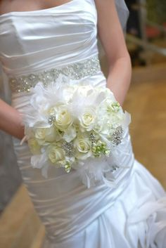 My wedding bouquet with broaches