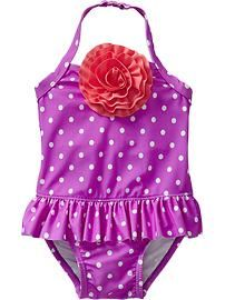 Rosette Skirted Swimsuits for Baby Skirted Swimsuits, Baby Swimsuit, Mini Me, My Favorite Color, Little Girls, Old Navy, Girl Outfits, Rompers, Vera Bradley