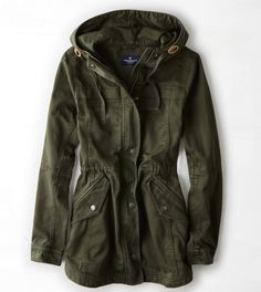 AEO Canvas Anorak- I bought last years version of this jacket and I LOVE IT, may have to get this one as well.