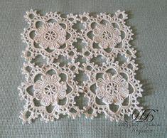 Motive 198 in World Crochet Crochet Motifs, Crochet Squares, Thread Crochet, Crochet Doilies, Crochet Flowers, Crochet Lace, Crochet Patterns, Irish Crochet, Easy Crochet