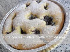 Torta con marmellata ricetta morbidissima con impasto versatile Biscotti, Nutella, Delicious Desserts, Cheesecake, Muffin, Pudding, Sweets, Eat, Recipes