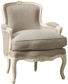 the authentic French bergère chair La bergère (pronounced bear-jshare) is maybe the most easily recognisable of the traditional French chairs. A shapely wooden frame, a… French Bergere Chairs, Furniture, French Furniture, My French Country Home, Country Home Decor, French Country Rug, Country House Decor, Home Decor, French Country Bedrooms