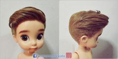 Disney Animator doll repaint remake. look at that haircut!