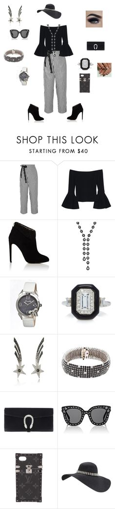 """""""funeral outfit"""" by bebejohnson ❤ liked on Polyvore featuring J.Crew, Alexis, Chloe Gosselin, Effy Jewelry, Bertha, Oui, Bernard Delettrez, Roberto Coin, Gucci and Louis Vuitton"""
