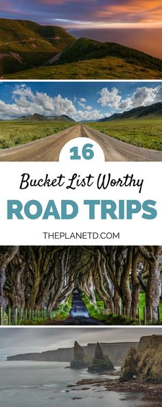 A bucket list guide to the best road trips in the world, from the Wild Atlantic Way in Ireland to the Ring Road in Iceland, to the California coast in the USA. These 16 road trip ideas are sure to be the beginning of an epic adventure. | Blog by the Planet D