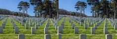 San Francisco National Cemetery  #3D #stereoscopic #CrossView #SF #SanFrancisco #USA