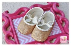 Sparkle Crib Shoes - Baby - Gold or Silver