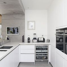 Whiet modern kitchen | Kitchen ideas | housetohome.co.uk