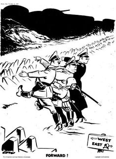 Second World War cartoons by the British cartoonist David Low.