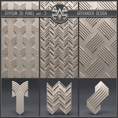 Material Library, 3d Panels, Gypsum, 3d Wall, 3 D, Ornament, Texture, Patterns, Design