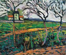 """Fields, Rueil"" Maurice de Vlaminck (1906) Art Experience NYC www.artexperiencenyc.com"