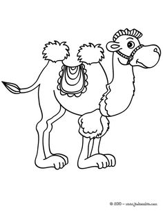 Camel Color by number coloring page bible crafts Pinterest