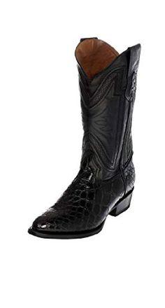 Ferrini Usa Men S Genuine Belly Alligator Boot Black 12d Boots Men Alligator Boots Boots