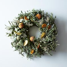 Citrus Wreath  made with eucalyptus leaves, makes me homesick!