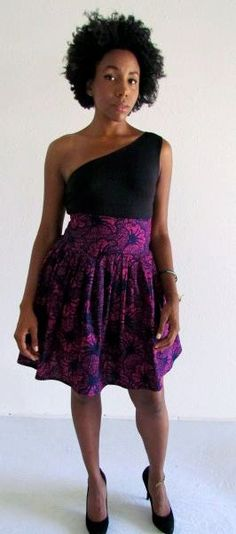 African Print Skirt by ifenkili on Etsy, $40.00