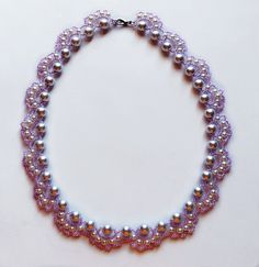 Free pattern for necklace Ballerina Click on link to get pattern - http://beadsmagic.com/?p=7259