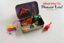 Dinosaur Land! Altoid Mint Tin Felting Project | LiberatedMind.com