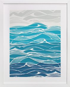 Tempestuous Seas by Gill Eggleston Design Ltd at minted.com