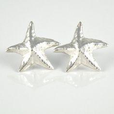 Silver Star Post Earrings Christmas Star Earrings by EfratJewelry, $49.00