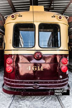 Photo canvas art of a vintage Toronto TTC streetcar