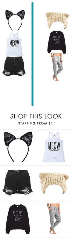 """Cats"" by moongal200492 on Polyvore featuring Maison Close, Topshop, Athleta, women's clothing, women, female, woman, misses, juniors and cats"